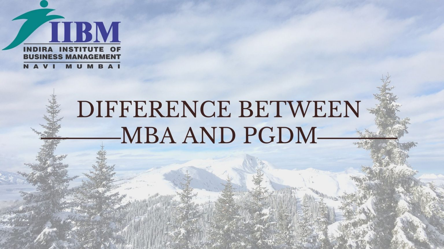 difference between MMS and PGDM